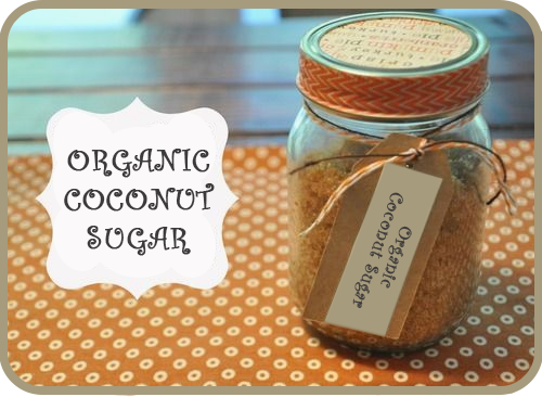 organic coconut sugar glass jar