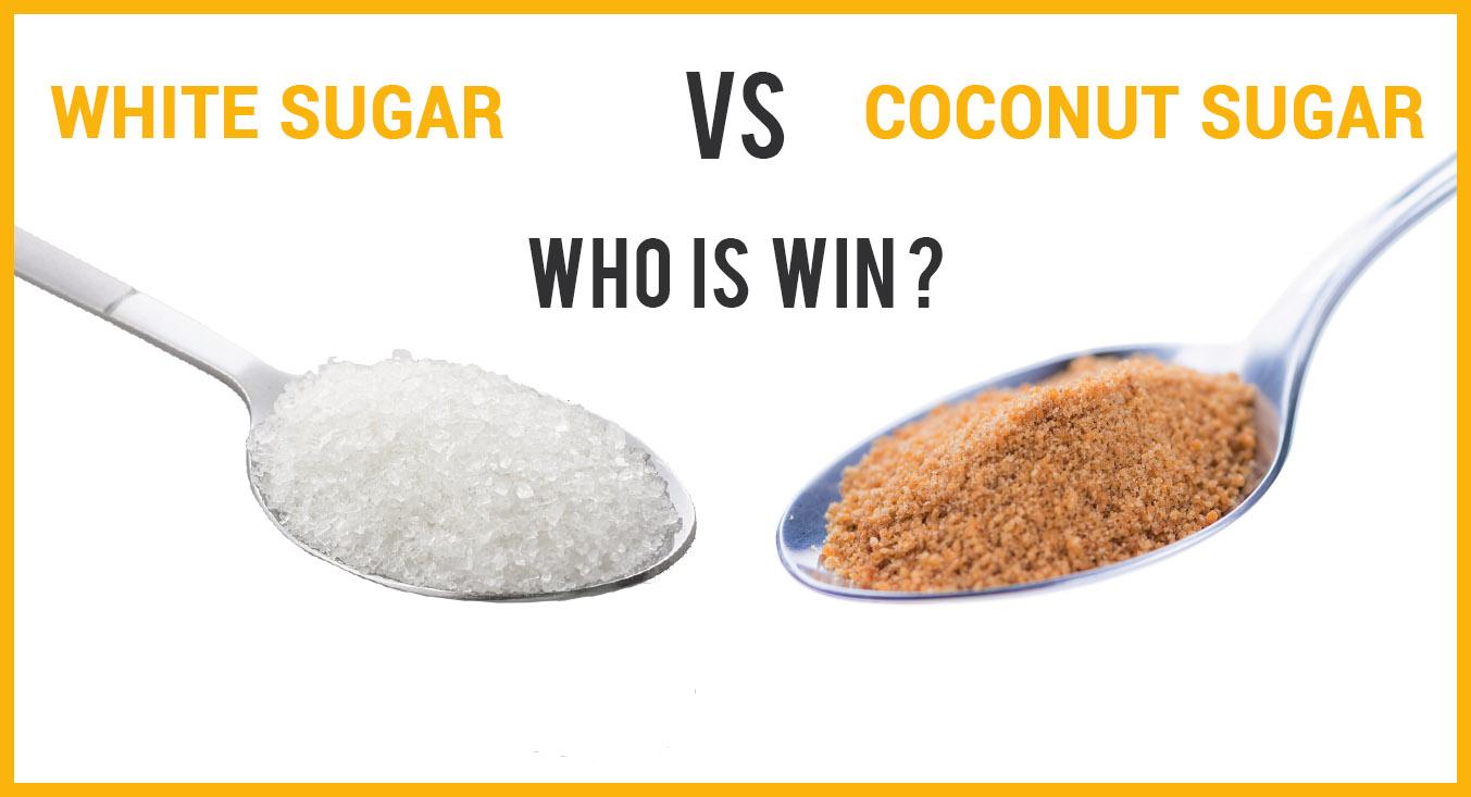 organic coconut sugar white sugar